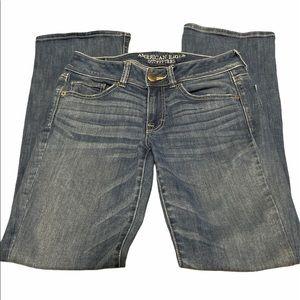 American Eagle Kick boots Blue jeans size 4R